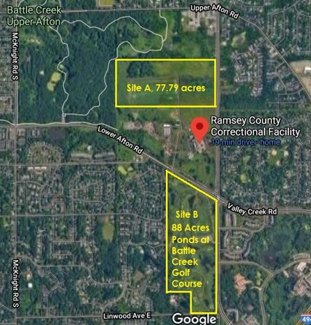 Mapof Ramsey COunty properties up for development