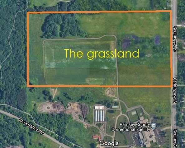 Map of Ramsey County Grassland up for development